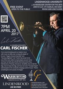 Carl Fischer, Lindenwood Master Class Poster