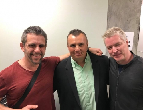 Carl hangin'  with Chris Botti, Andy Snitzer and Leo Amuedo
